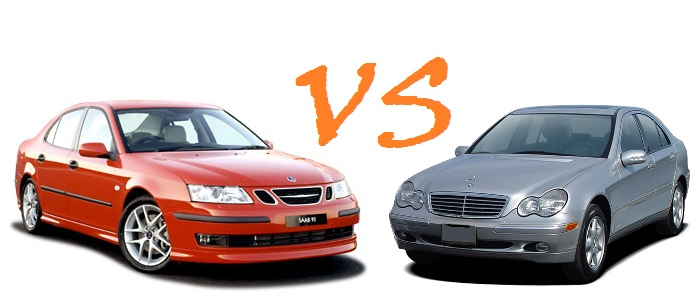 Clash: Mercedes C200 CDI vs SAAB 9-3 2.2 TiD